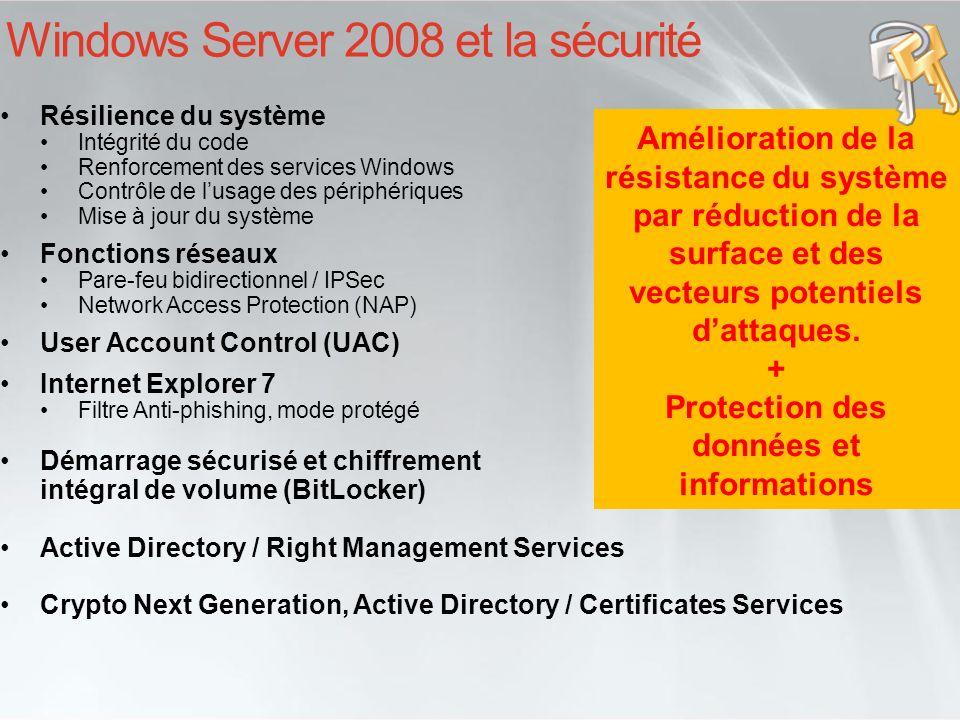Windows Server 2008 et la sécurité