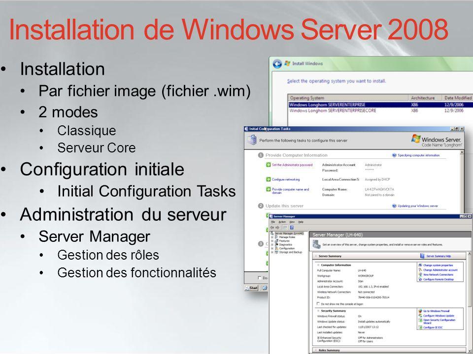 Installation de Windows Server 2008