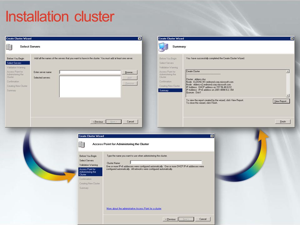 Installation cluster INF210