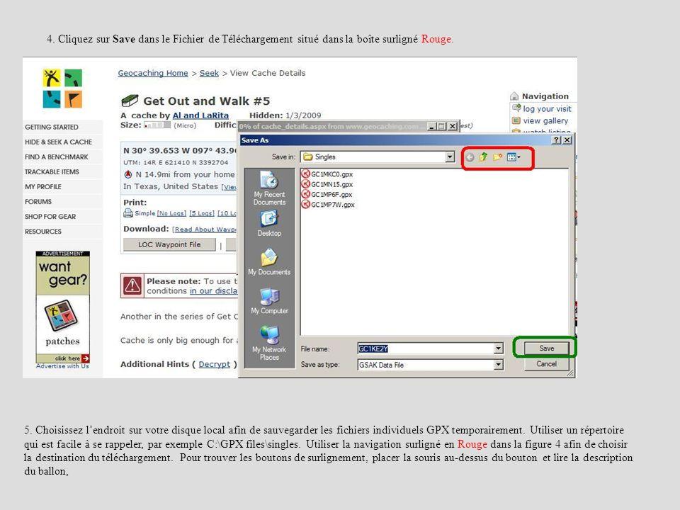 4. Cliquez sur Save dans le Fichier de Téléchargement situé dans la boîte surligné Rouge.