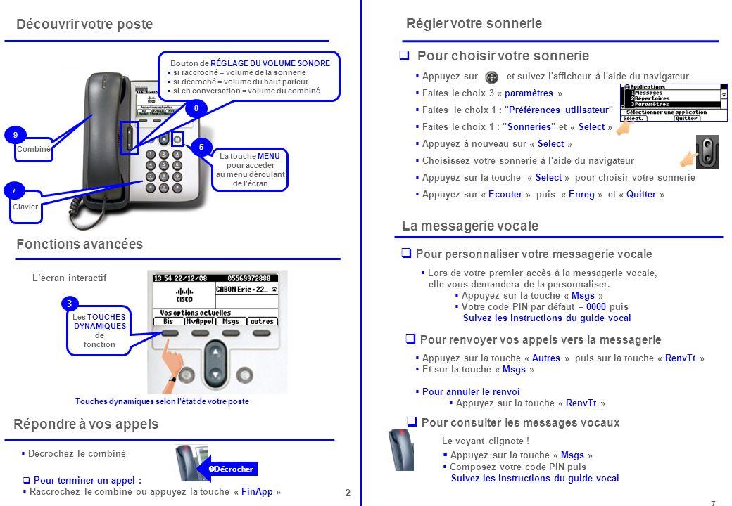 Pour personnaliser votre messagerie vocale