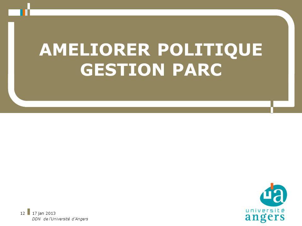 AMELIORER POLITIQUE GESTION PARC