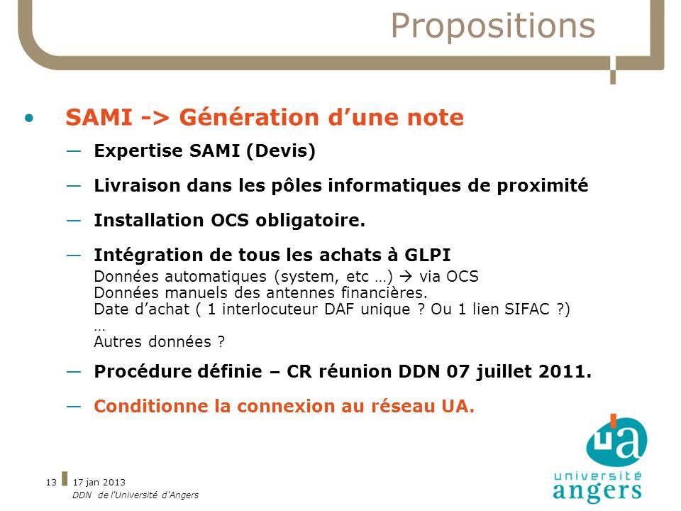 Propositions SAMI -> Génération d'une note Expertise SAMI (Devis)