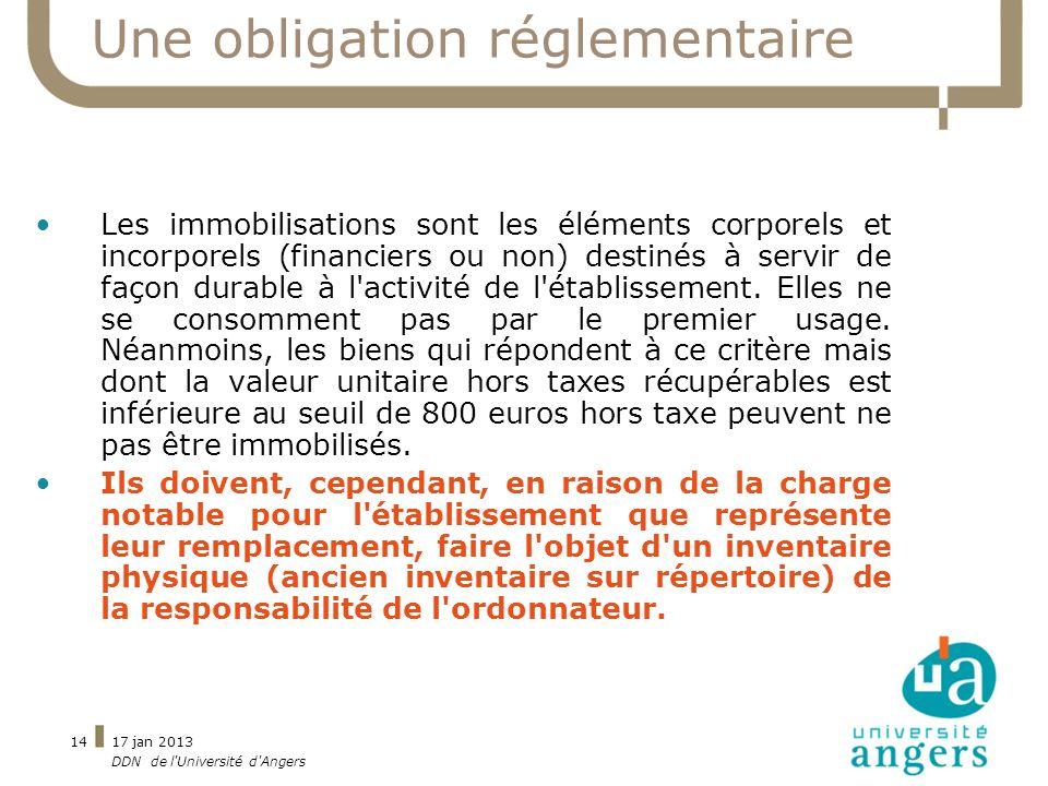 Une obligation réglementaire