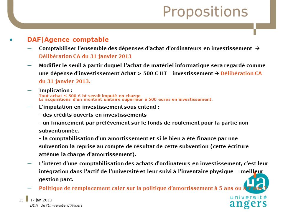 Propositions DAF|Agence comptable