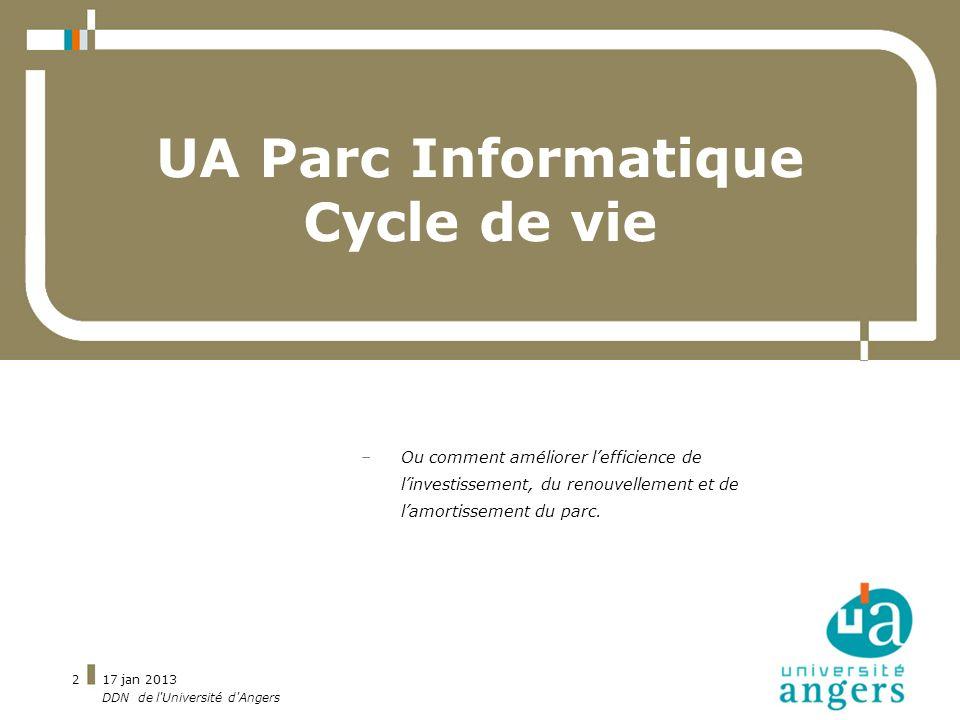 UA Parc Informatique Cycle de vie