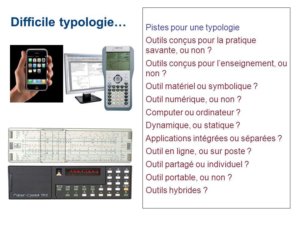 Difficile typologie… Pistes pour une typologie
