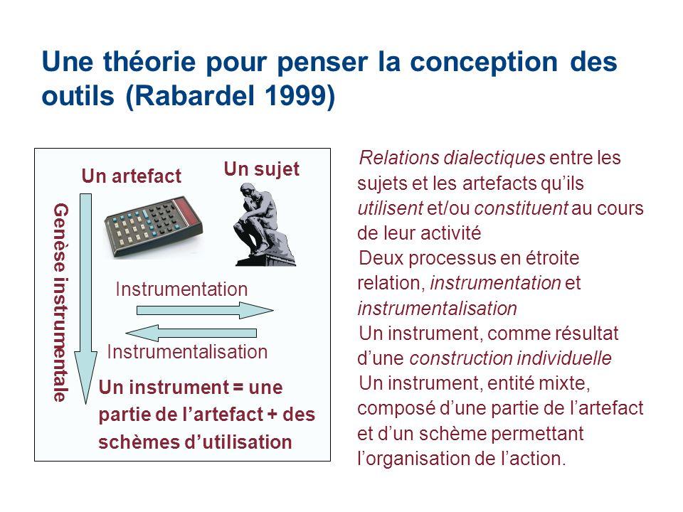 Une théorie pour penser la conception des outils (Rabardel 1999)