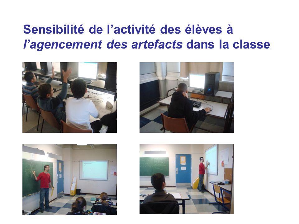 Sensibilité de l'activité des élèves à l'agencement des artefacts dans la classe