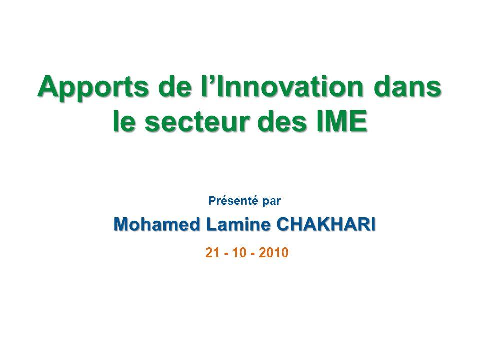 Apports de l'Innovation dans le secteur des IME