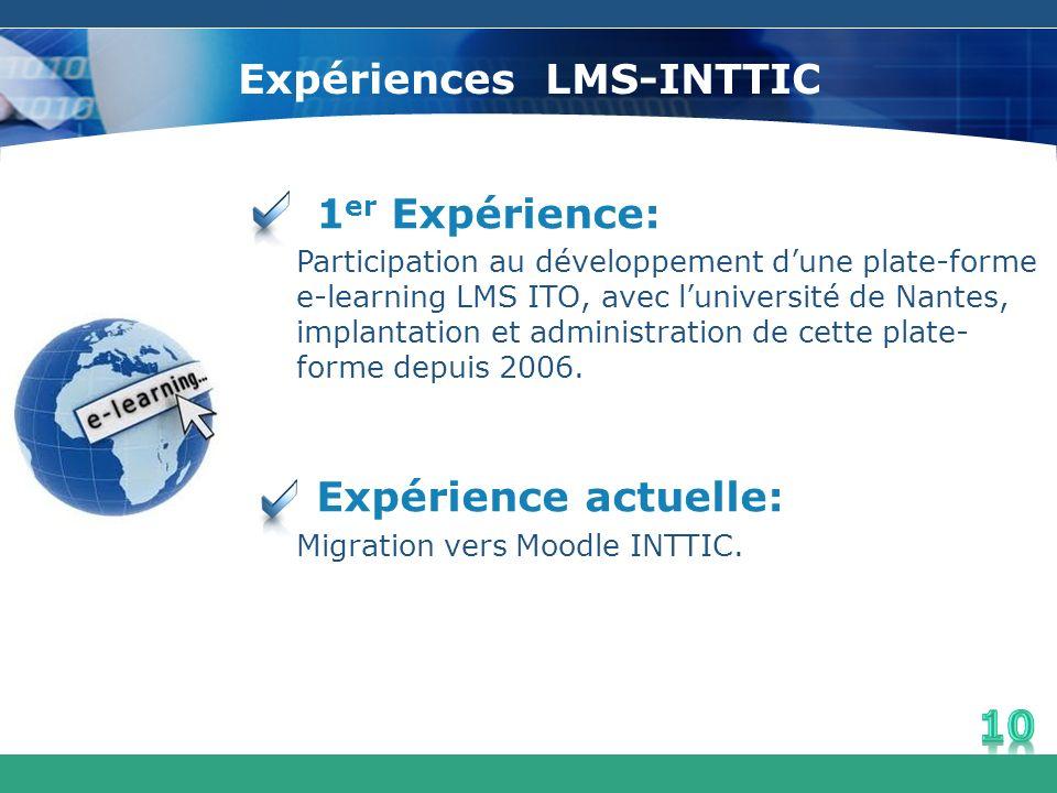 Expériences LMS-INTTIC
