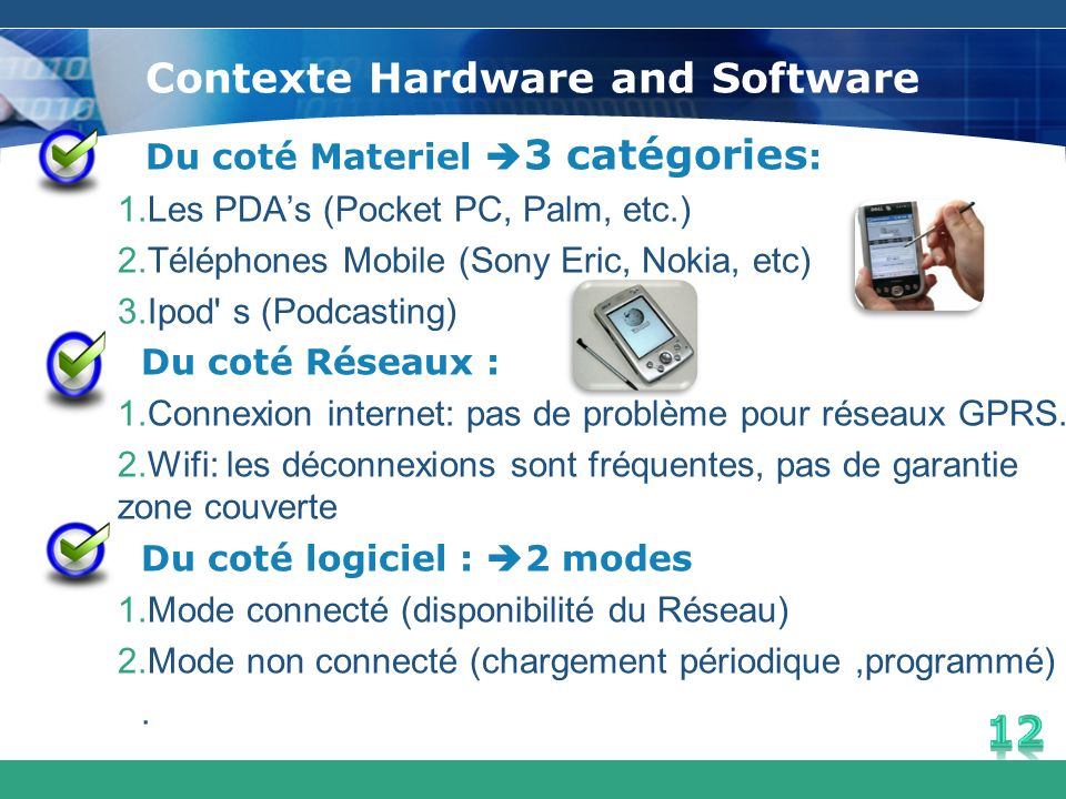 Contexte Hardware and Software