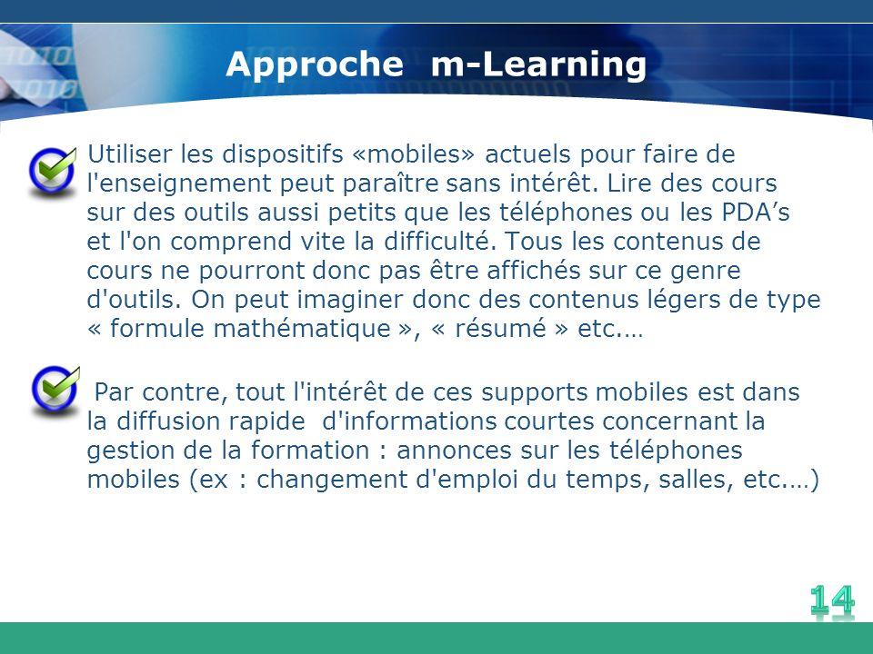 Approche m-Learning