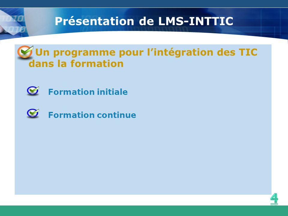 Présentation de LMS-INTTIC