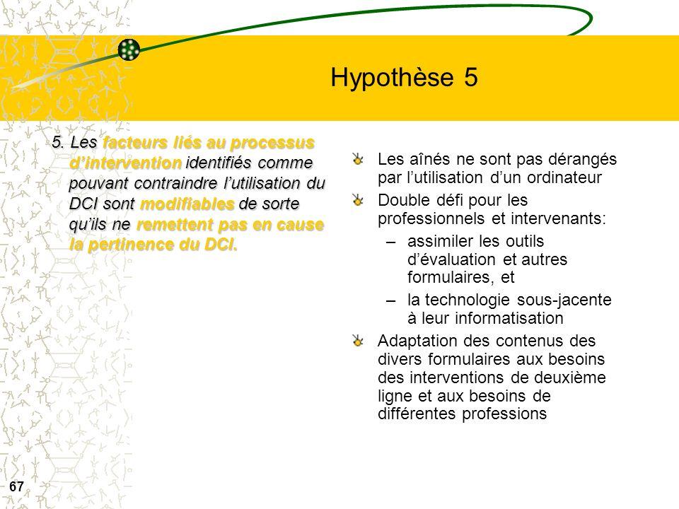 Hypothèse 5