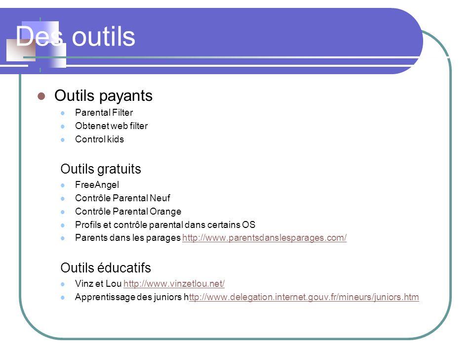 Des outils Outils payants Outils gratuits Outils éducatifs