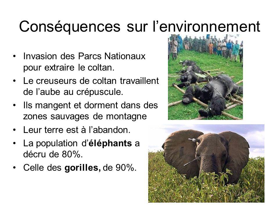 Conséquences sur l'environnement