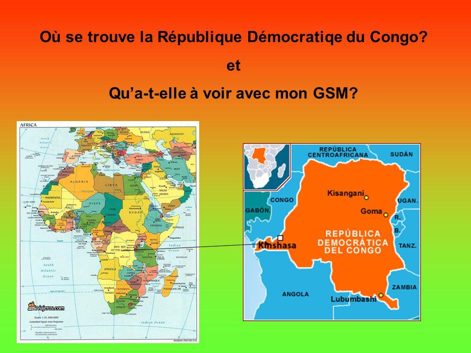 Où se trouve la République Démocratiqe du Congo et