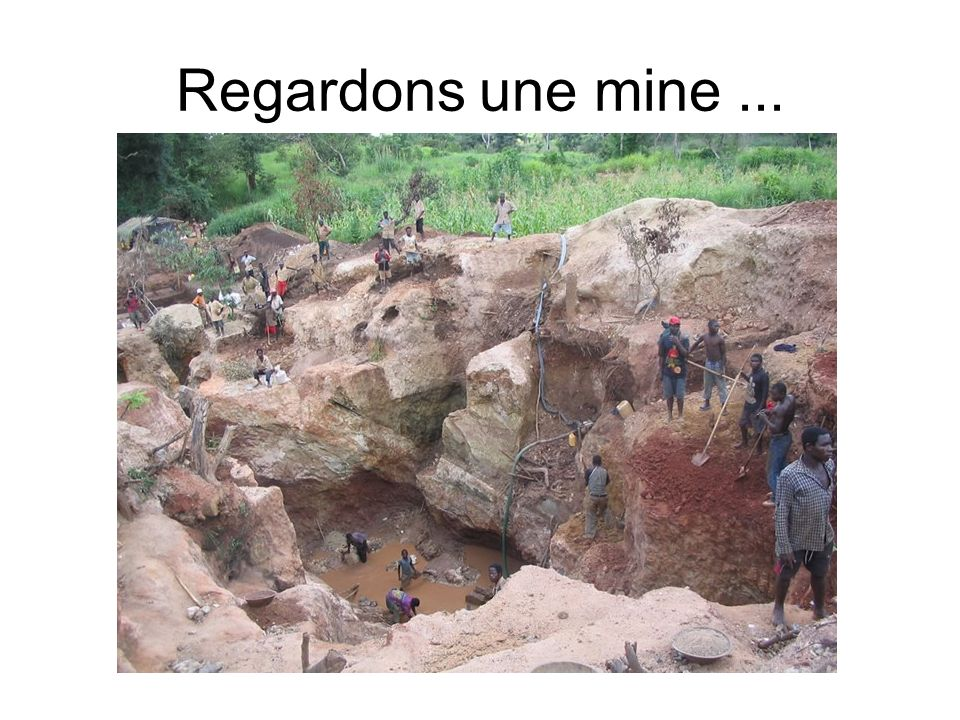 Regardons une mine ...