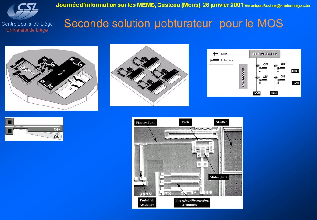 Seconde solution µobturateur pour le MOS