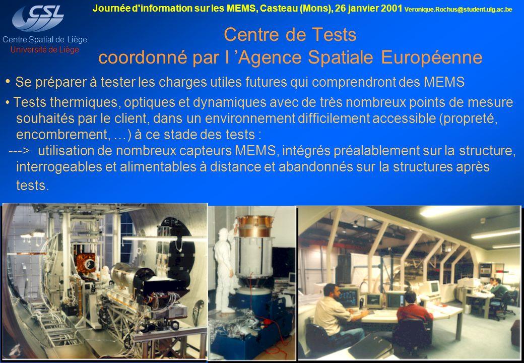 Centre de Tests coordonné par l 'Agence Spatiale Européenne