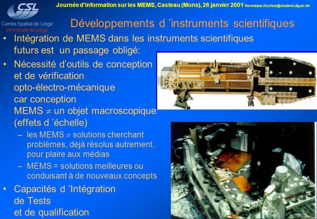 Développements d 'instruments scientifiques
