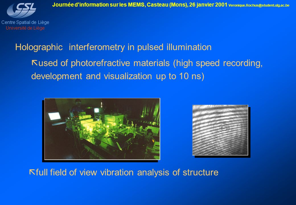 Holographic interferometry in pulsed illumination