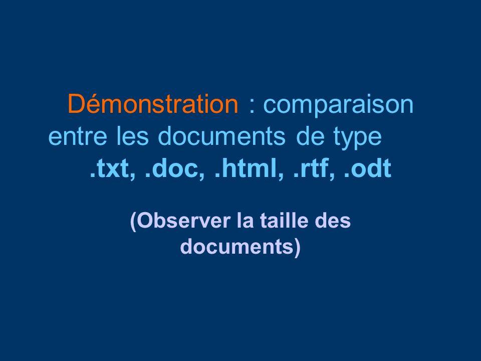 (Observer la taille des documents)