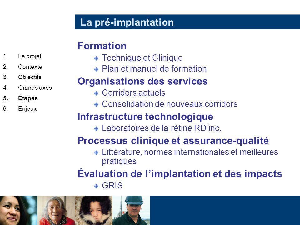 Organisations des services