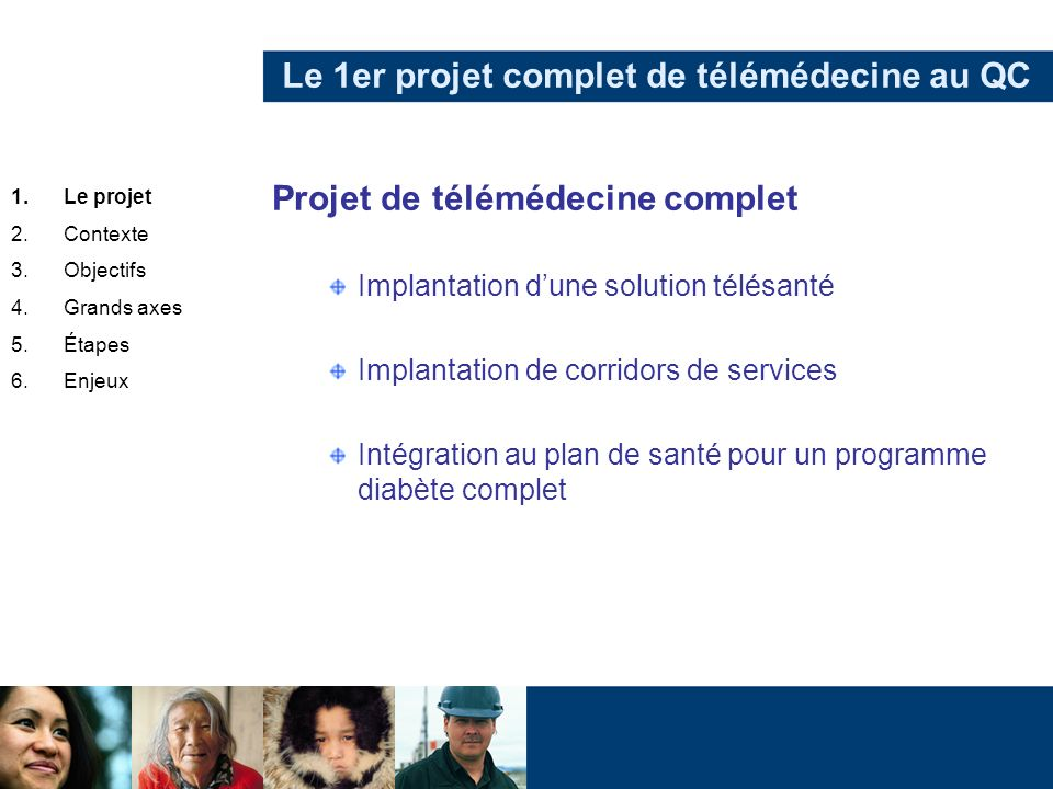 Le 1er projet complet de télémédecine au QC
