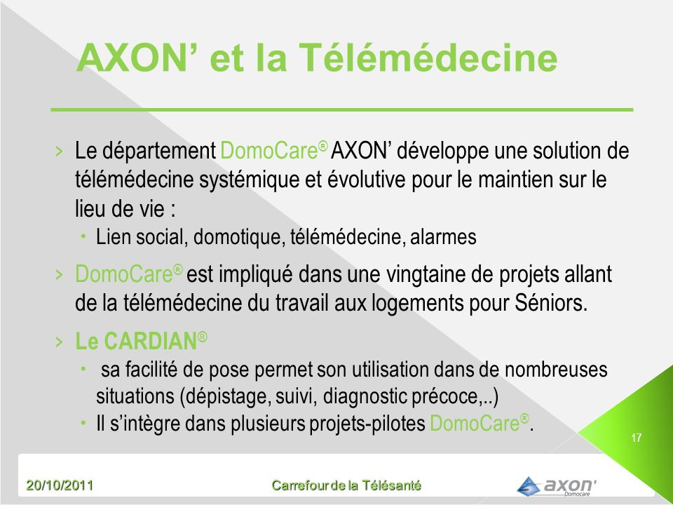 AXON' et la Télémédecine