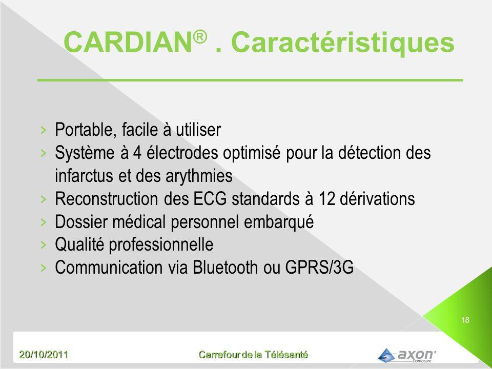 CARDIAN® . Caractéristiques
