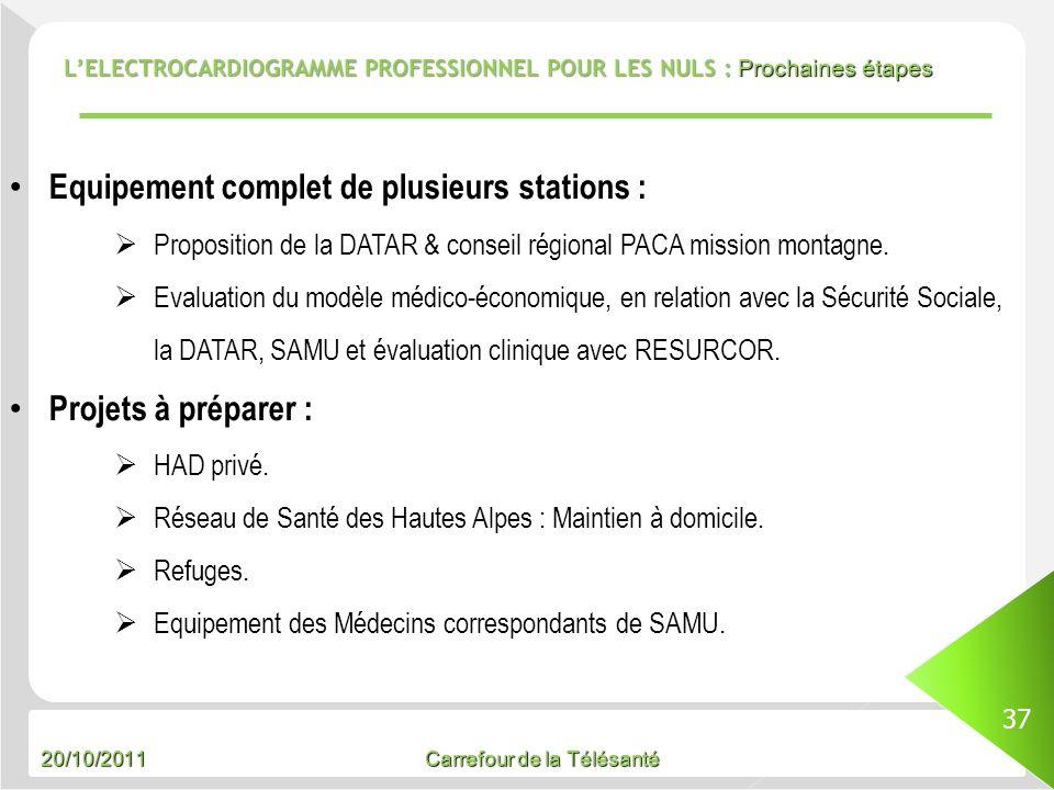 Equipement complet de plusieurs stations :