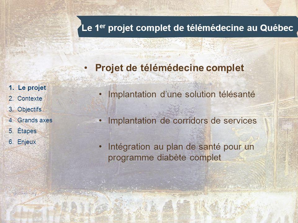 Le 1er projet complet de télémédecine au Québec