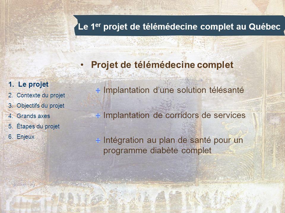 Le 1er projet de télémédecine complet au Québec