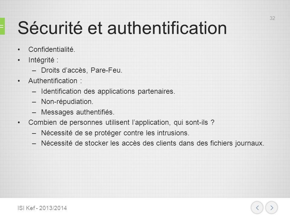 Sécurité et authentification
