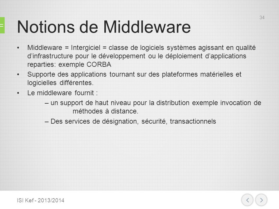 Notions de Middleware