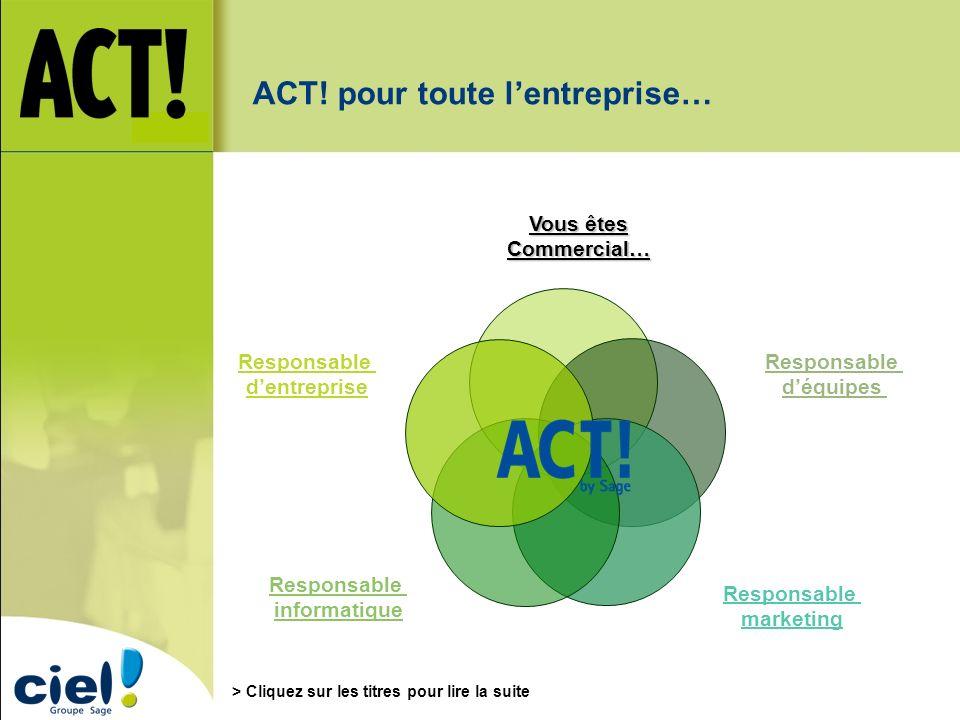 ACT! pour toute l'entreprise…