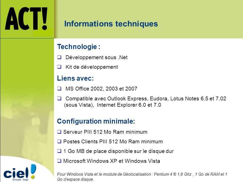 Informations techniques