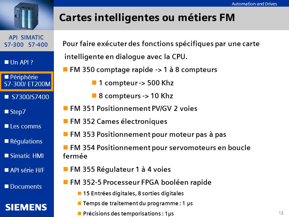 Cartes intelligentes ou métiers FM