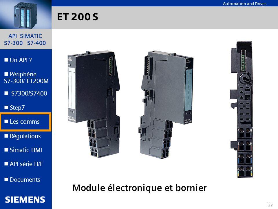 ET 200 S Module électronique et bornier