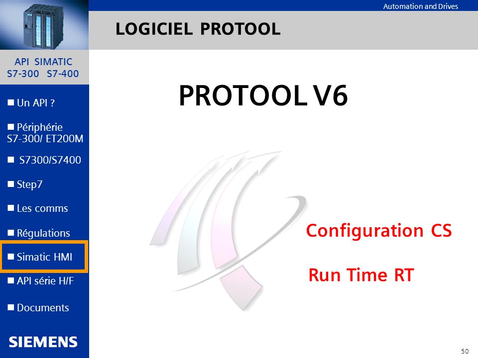 LOGICIEL PROTOOL PROTOOL V6 Configuration CS Run Time RT