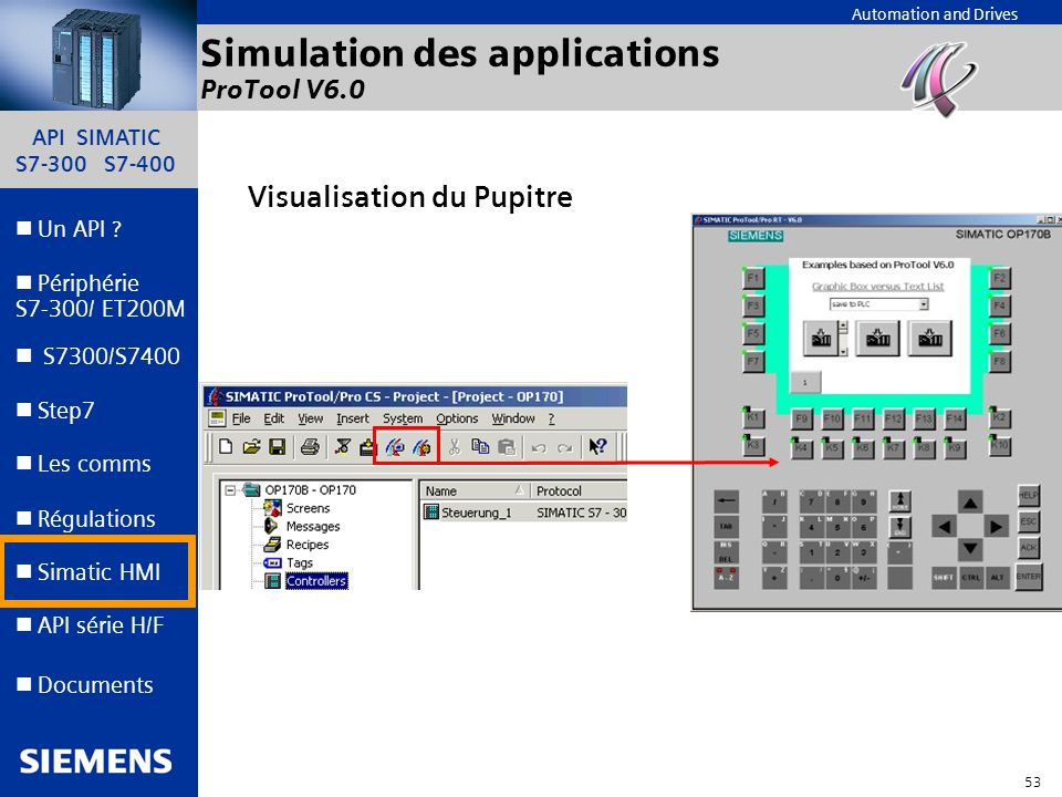 Simulation des applications ProTool V6.0