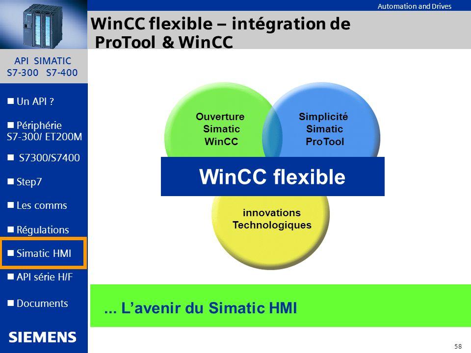 WinCC flexible – intégration de ProTool & WinCC