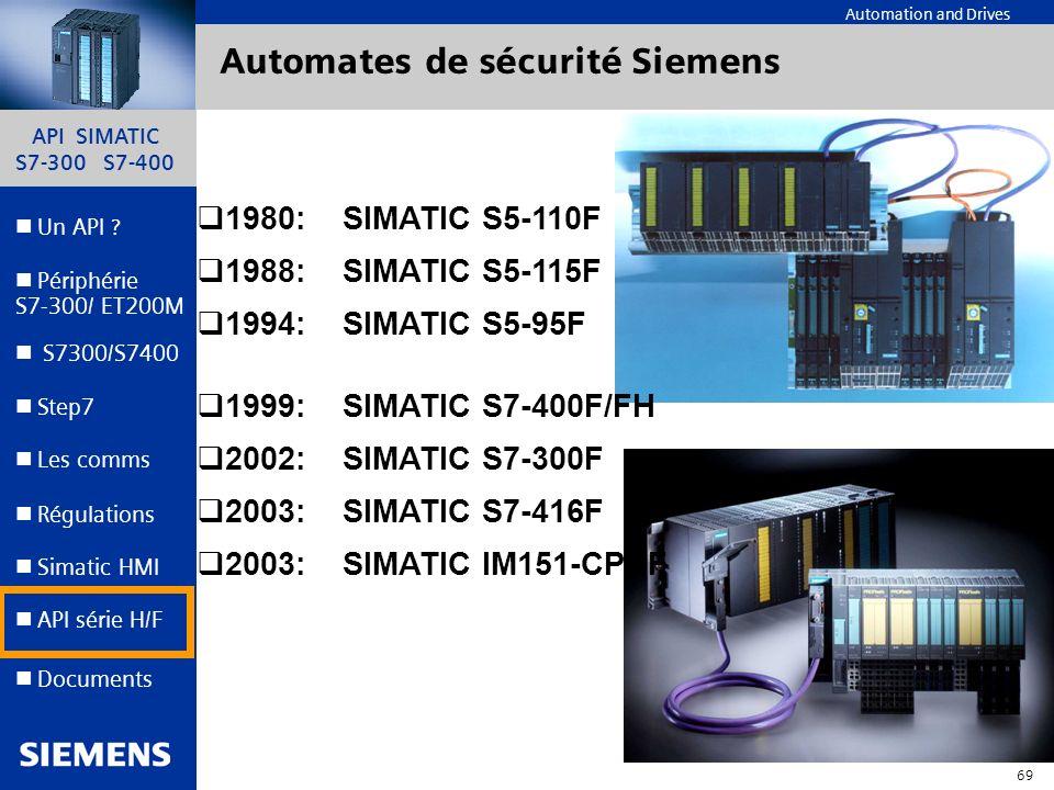 Automates de sécurité Siemens