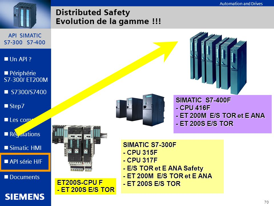 Distributed Safety Evolution de la gamme !!!