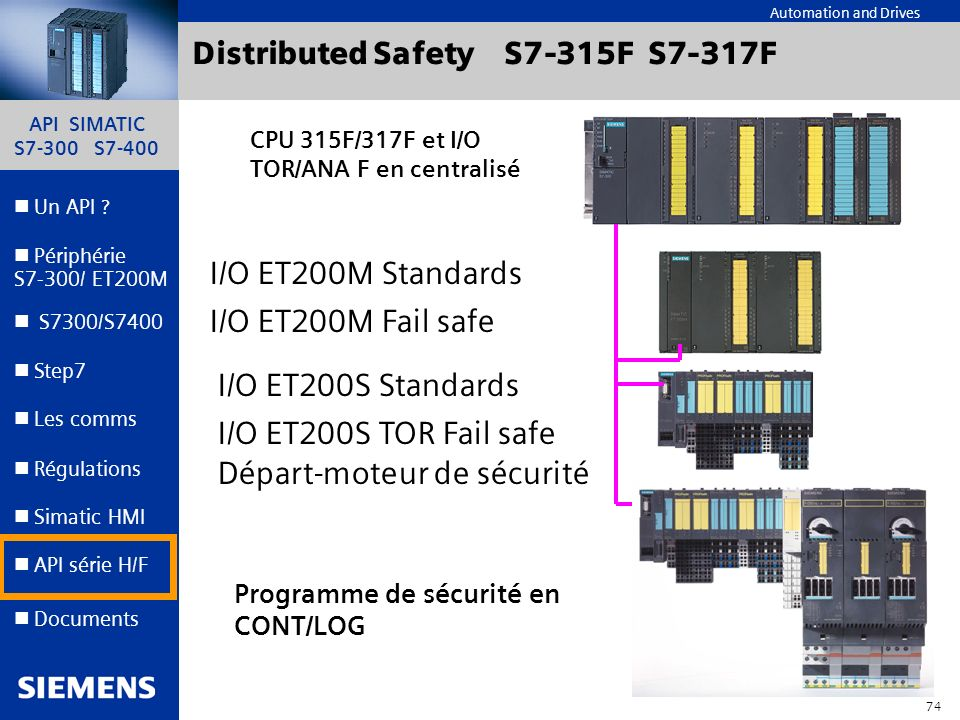 Distributed Safety S7-315F S7-317F