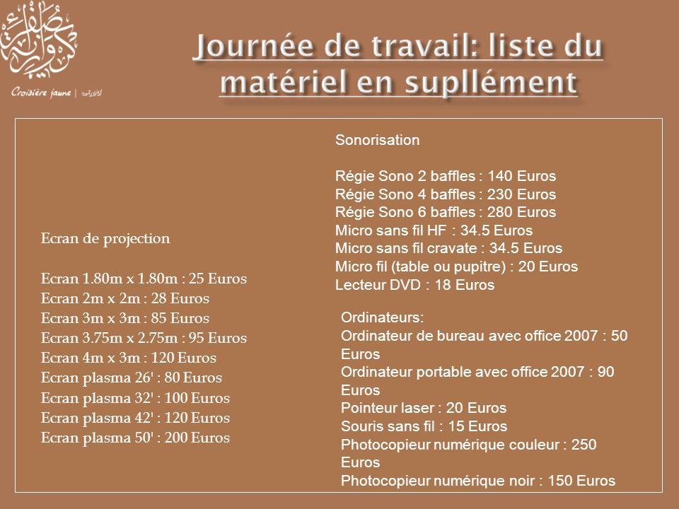 Sonorisation Régie Sono 2 baffles : 140 Euros. Régie Sono 4 baffles : 230 Euros. Régie Sono 6 baffles : 280 Euros.