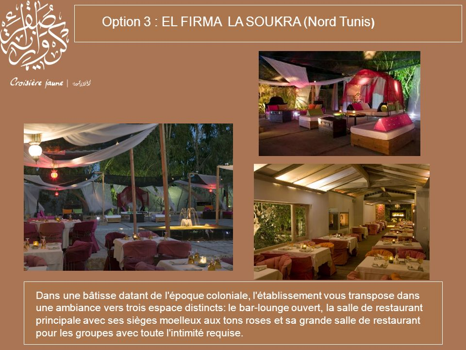 Option 3 : EL FIRMA LA SOUKRA (Nord Tunis)