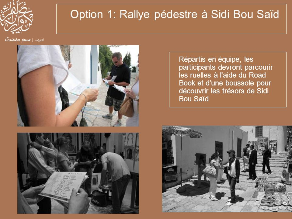 Option 1: Rallye pédestre à Sidi Bou Saïd